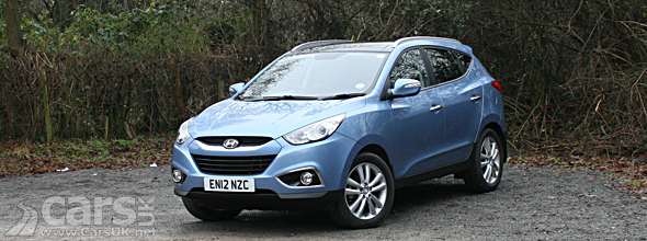 Exterior photo of blue Hyundai ix35 4WD reviewed