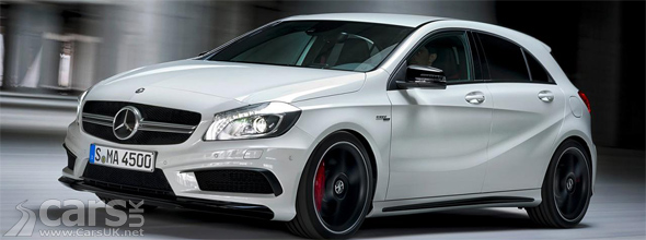 White Mercedes A45 AMG image