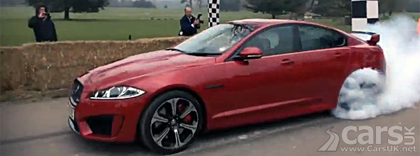 Photo Jaguar XFR-S start Goodwood hillclimb