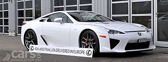 Photo of last Lexus LFA delivered in Europe