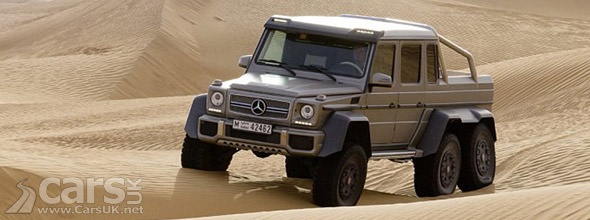 Photo of Mercedes G63 AMG 6x6 in desert