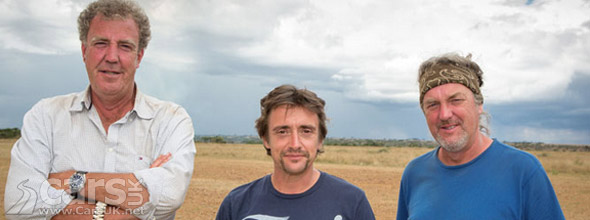 Still image from Top Gear CHristmas Special to Africa Nile