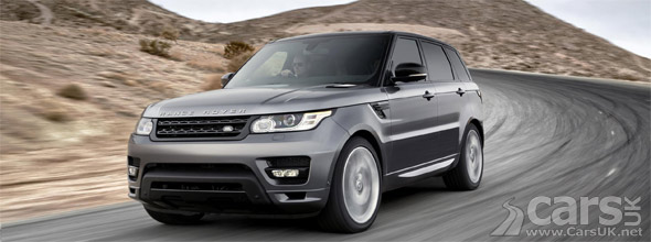 2014 Range Rover Sport driving on road
