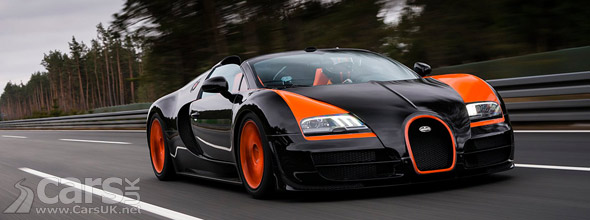 Bugatti Veyron Grand Sport Vitesse setting world speed record