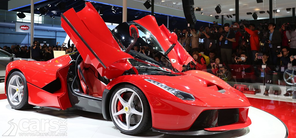 Photo of red LaFerrari on the Ferrari stand at 2013 Shanghai Motor Show
