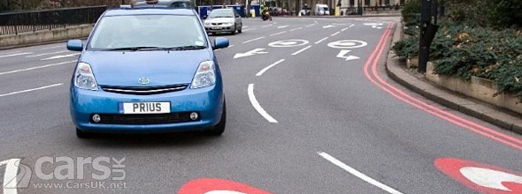 Car driving in London Congestion Charging Zone