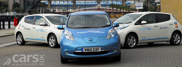 Photo of 3 Nissan LEAF Electric Cars