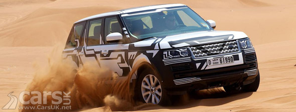 New Range Rover testing on sand dunes in Dubai
