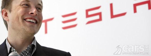 Photo of Elon Musk & Tesla Logo