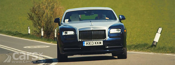 Photo of new Rolls Royce Wraith on road