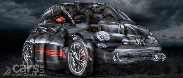 Photo Fiat 500 Abarth Naked Women