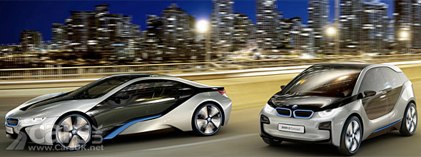 Photo BMW i3 and i8