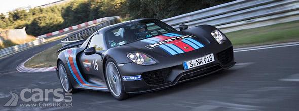 porsche 918 spyder laps nurburgring in under 7 minutes cars uk. Black Bedroom Furniture Sets. Home Design Ideas