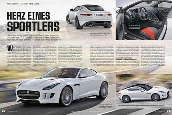Jaguar F-Type Coupe revealed early photo