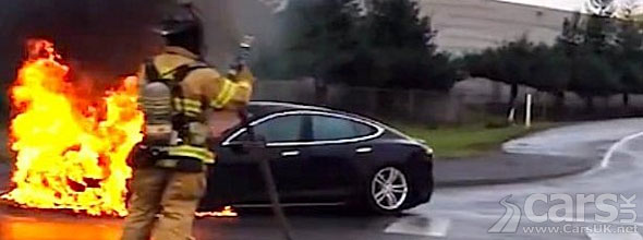 Photo Tesla Model S Fire