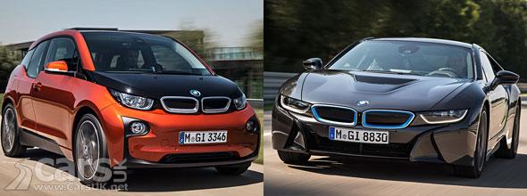 Photo BMW i3 and i8 EVs