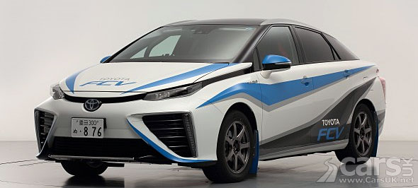 Toyota Fcv Hydrogen Fuel Cell Car Going Rallying Sort Of