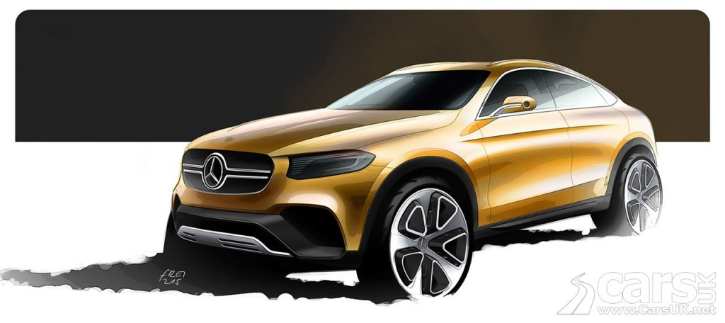 Mercedes GLC Coupe SUV previewed ion this sketch