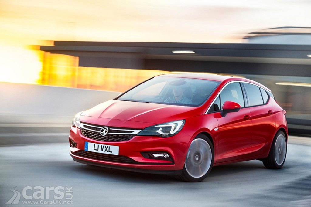 2016 |Vauxhall Astra froint three quarter view in red
