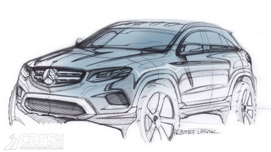 Mercedes GLC previewed with sketch