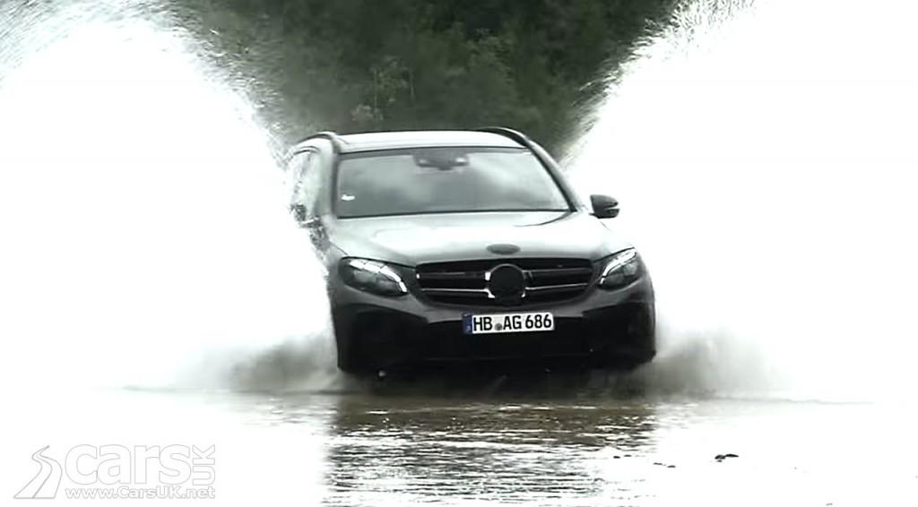 View Mercedes GLC driving through water