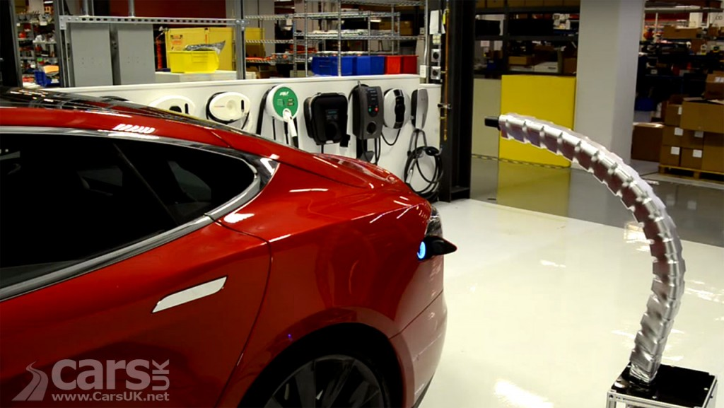 Image of Tesla Charging Snake Video