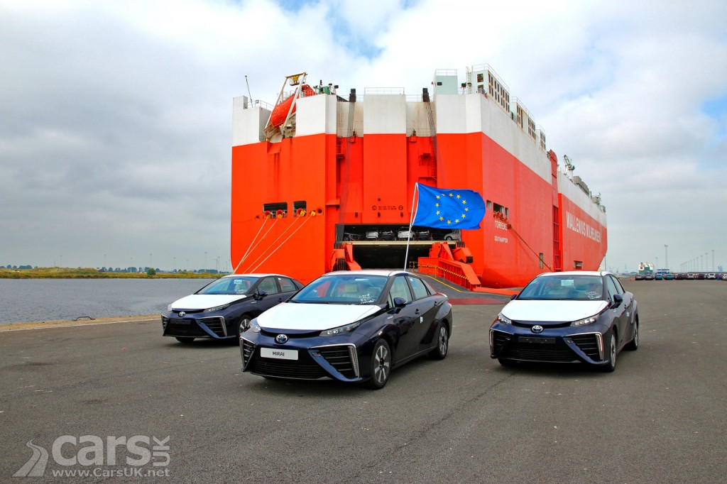 Photo First Toyota Mirai hydrogen powered cars arrive in the UK