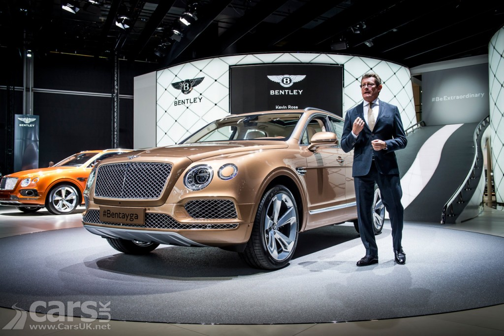 Photo Bentley Bentayga SUV Frankfurt 2015