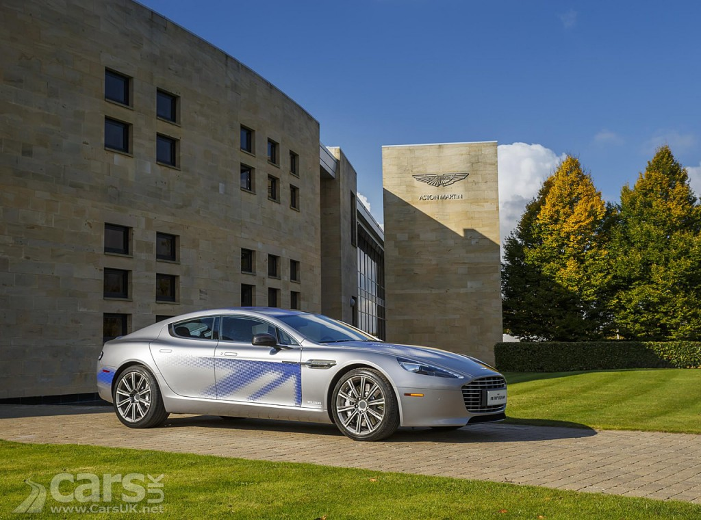 Photo The The new Aston Martin RapidE electric super saloon