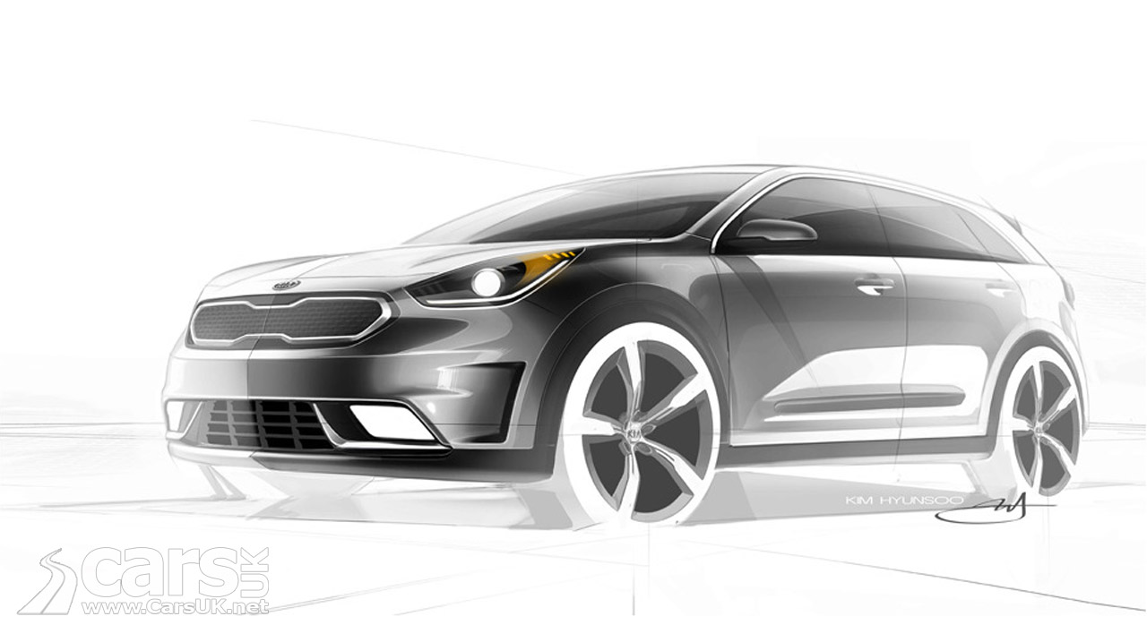 kia niro hybrid suv first look with a niro design sketch cars uk. Black Bedroom Furniture Sets. Home Design Ideas