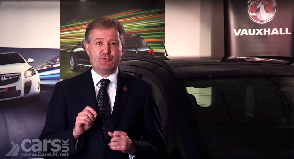 Photo Vauxhall Chairman, Rory Harvey, announces Zafira fire recall