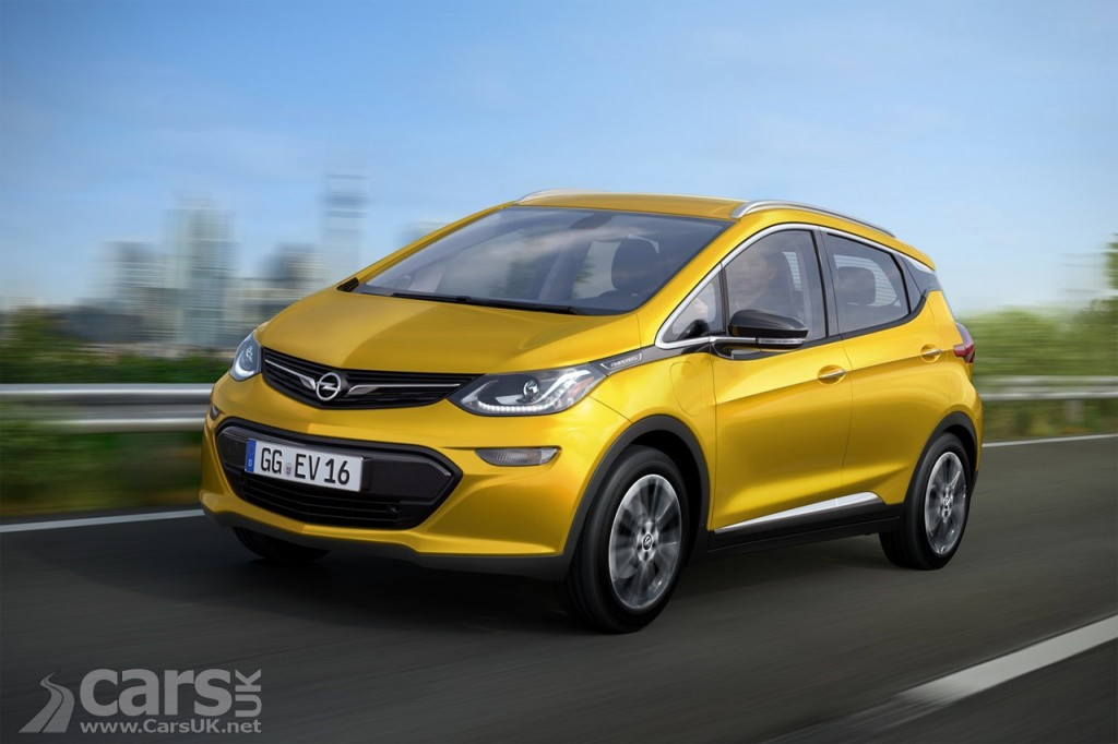 Photo Vauxhall / Opel Ampera-e electric car