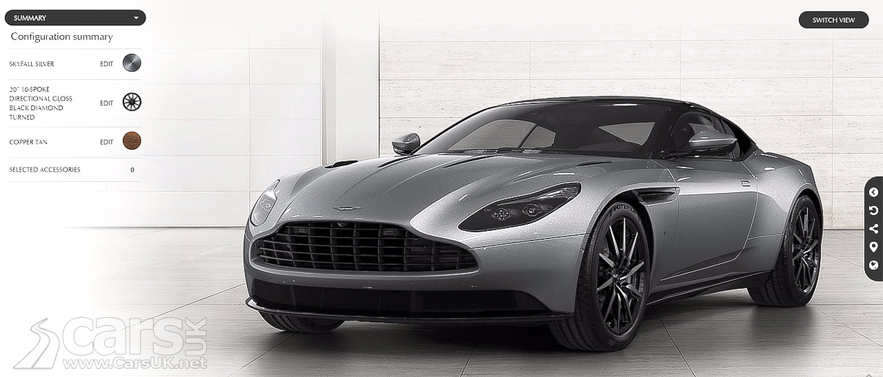 aston martin db11 configurator now live on aston 39 s site cars uk. Black Bedroom Furniture Sets. Home Design Ideas