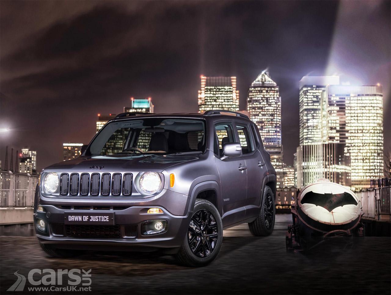 jeep renegade dawn of justice arrives to cash in on batman v superman costs 19 495 cars uk. Black Bedroom Furniture Sets. Home Design Ideas