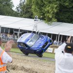 Jaguar F-PACE goes up the Goodwood hillclimb on TWO wheels (+video)