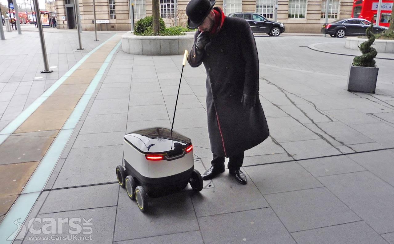 Photo Autonomous Vehicles start takeaway deliveries in London