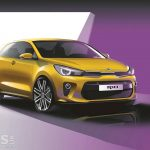 New 2017 Kia Rio previewed in design sketches ahead of Paris debut
