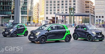 New Smart Electric Drive range arrives – ForTwo, ForFour & ForTwo Cabrio EVs