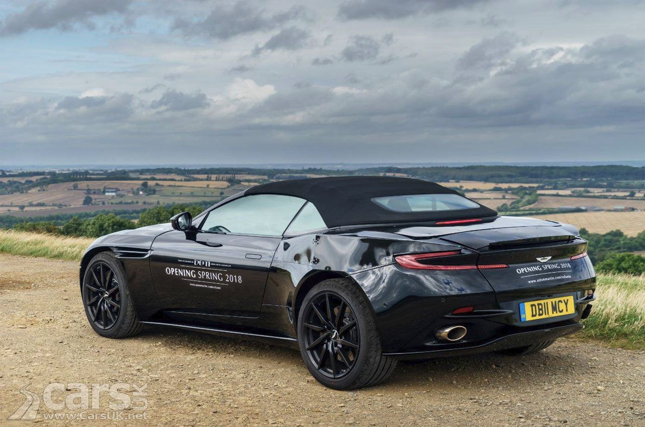 aston martin db11 volante tease starts 18 months before the db11 convertible arrives cars uk. Black Bedroom Furniture Sets. Home Design Ideas