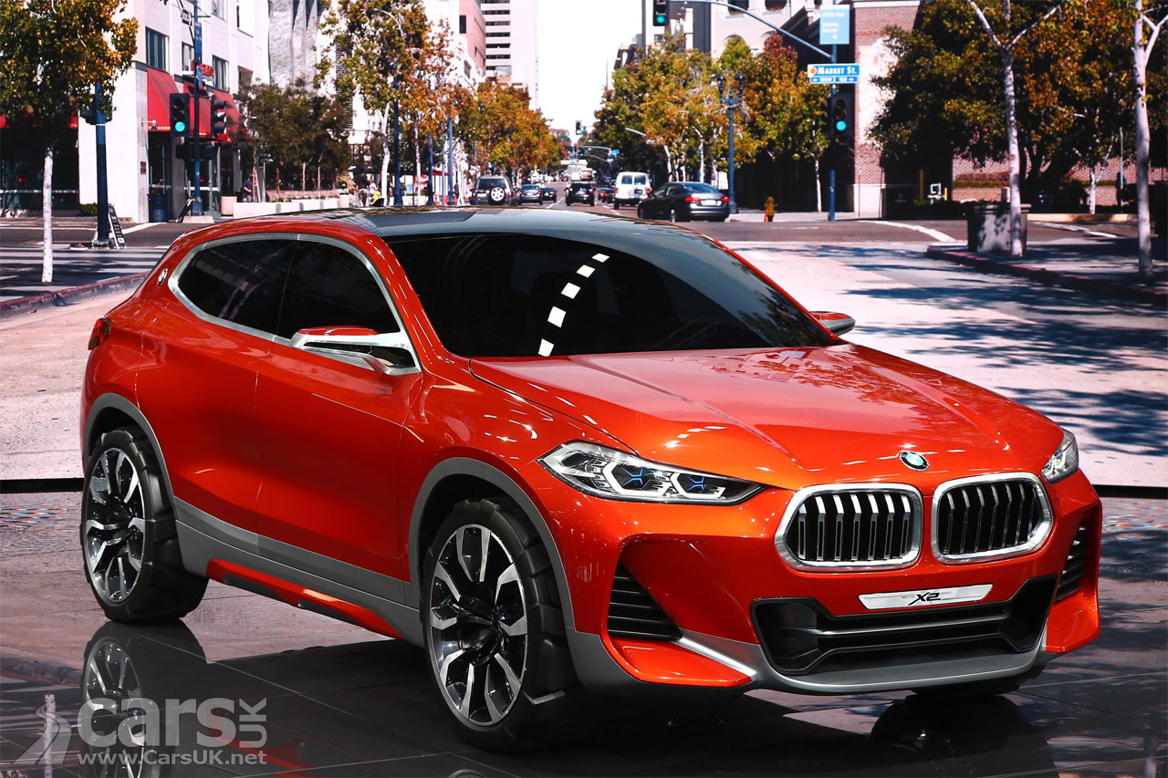 bmw x2 concept at paris previews a production x2 as a sporty x1 cars uk. Black Bedroom Furniture Sets. Home Design Ideas