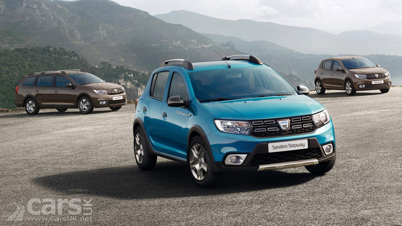 dacia sandero sandero stepway and logan get a makeover for 2017 paris debut cars uk. Black Bedroom Furniture Sets. Home Design Ideas