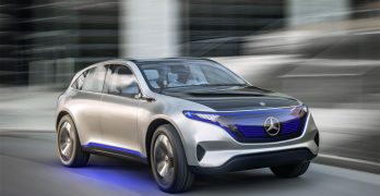 Mercedes-Benz Generation EQ electric SUV concept glides in to Paris
