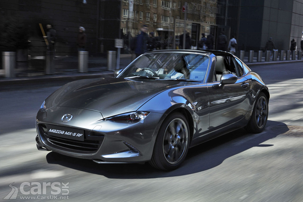 new mazda mx 5 rf will cost from 22 195 when it goes on sale in the uk cars uk. Black Bedroom Furniture Sets. Home Design Ideas