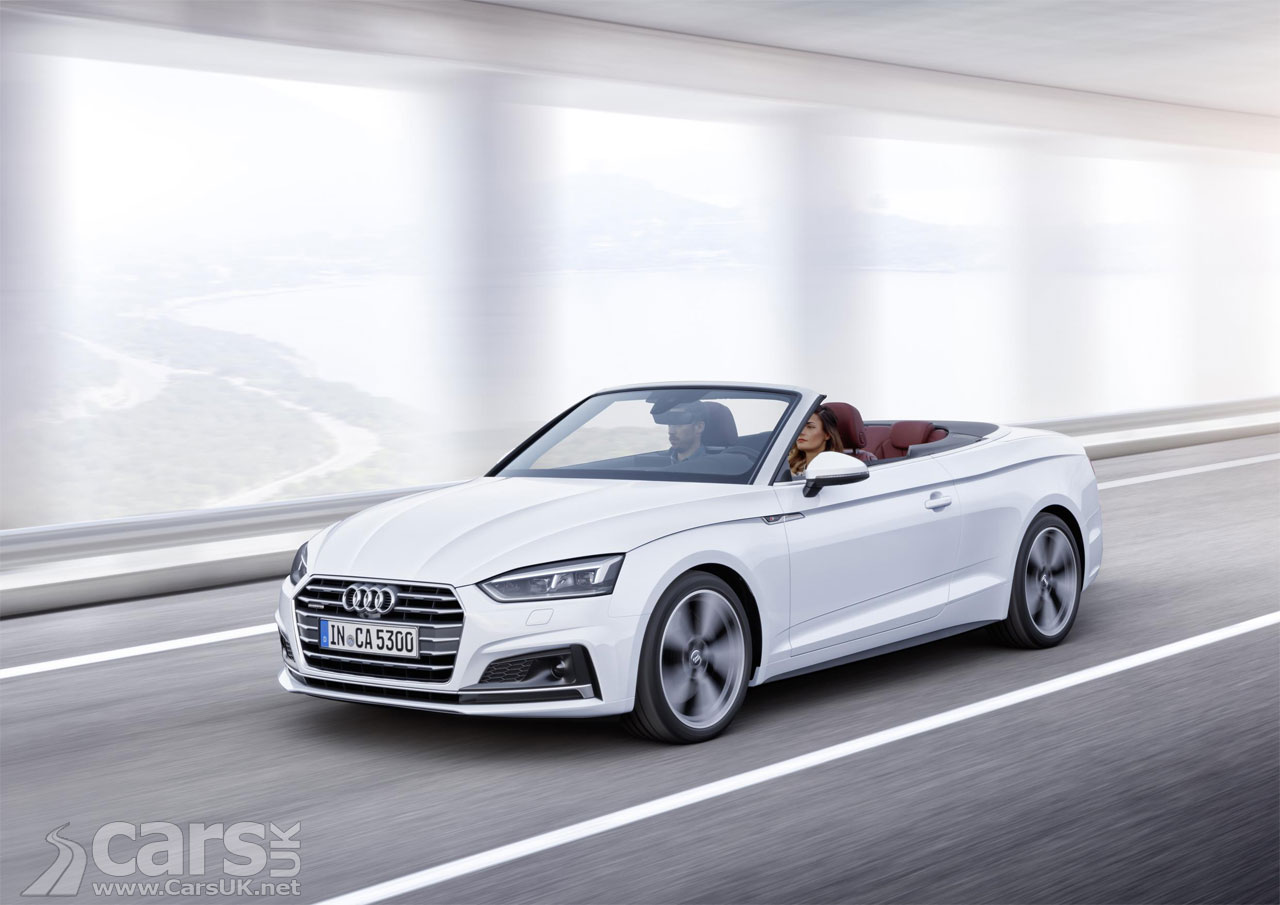 new audi a5 coupe drops its top as the 2017 a5 cabriolet. Black Bedroom Furniture Sets. Home Design Ideas