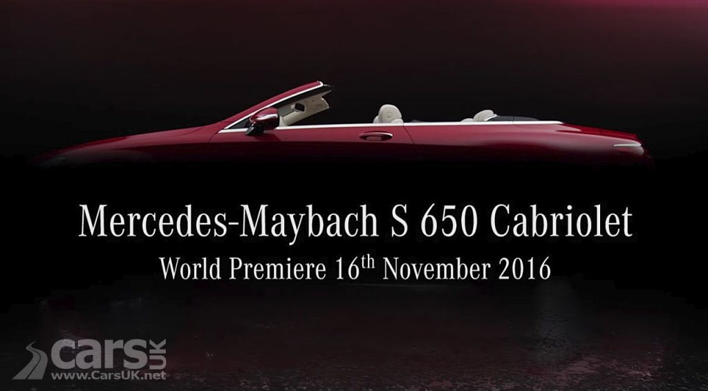 Photo Mercedes-Maybach S 650 Cabriolet teased for LA