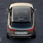 This is the new Range Rover Velar – well, a birds-eye view of the Velar at least