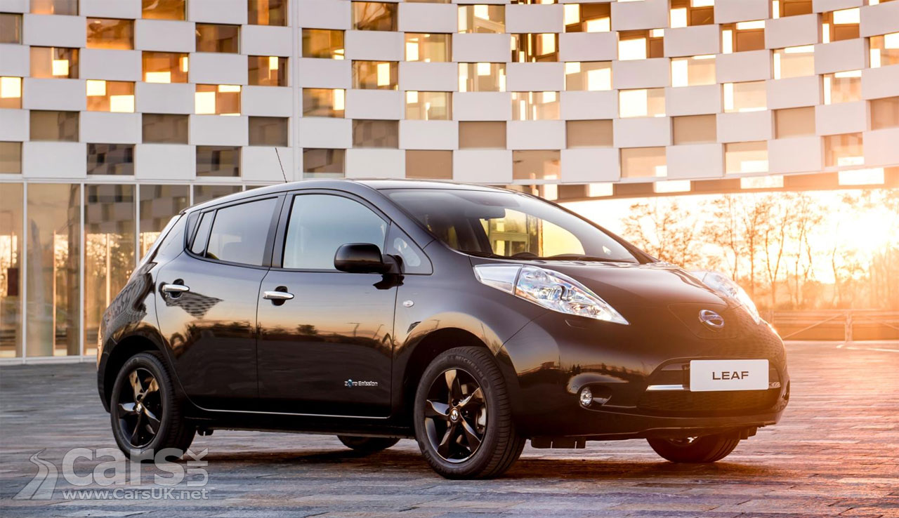 2017 nissan leaf black edition goes on sale in the uk priced from 26 890 31 390 cars uk. Black Bedroom Furniture Sets. Home Design Ideas