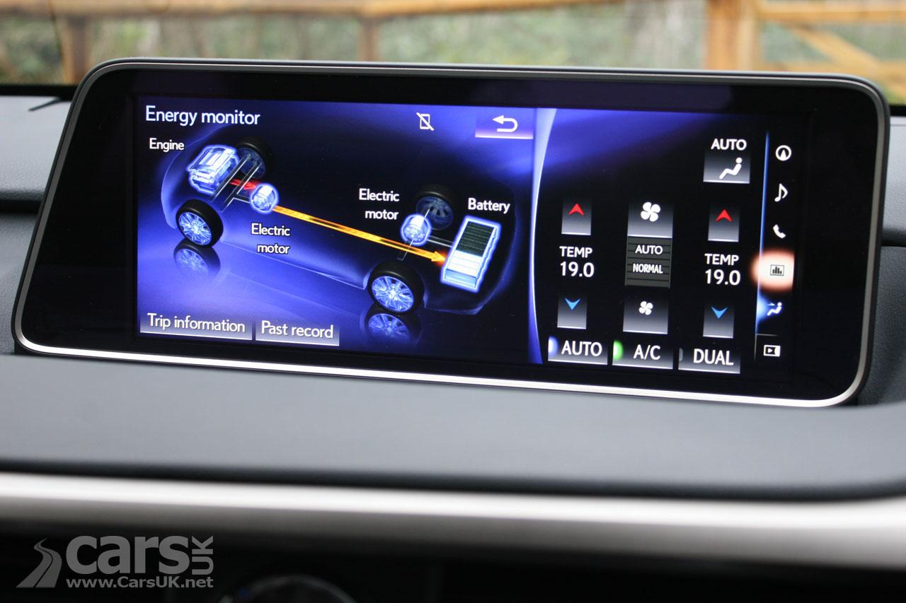 Lexus RX 450h F Sport Infotainment screen
