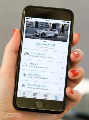 Photo 2017 update of the Volvo On Call Smartphone App