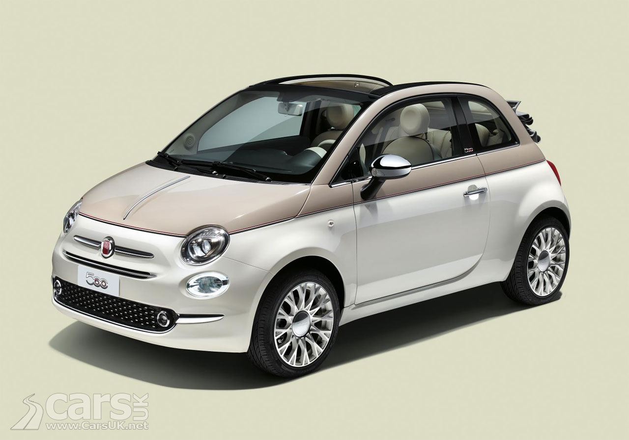 new fiat 500 60th pays retro homage to the original fiat. Black Bedroom Furniture Sets. Home Design Ideas